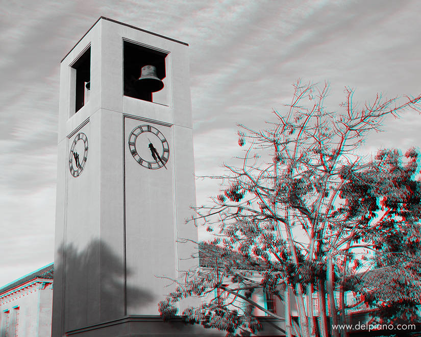 3D stereo Anaglyphs of places and lines, geometry, depth