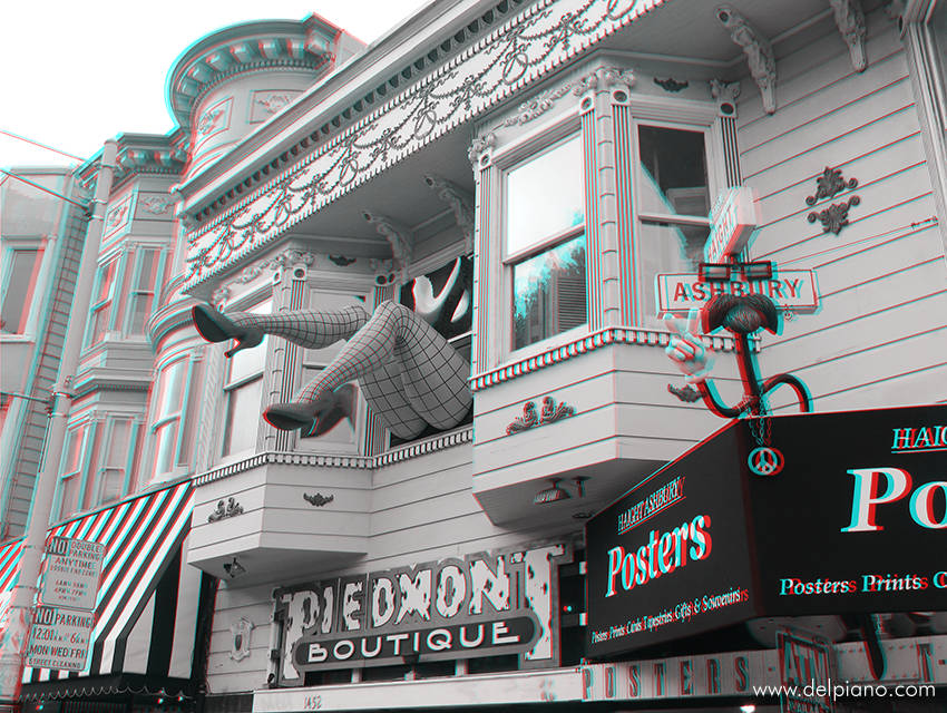 3D stereo Anaglyphs of typical USA lifestyle and urban scenes