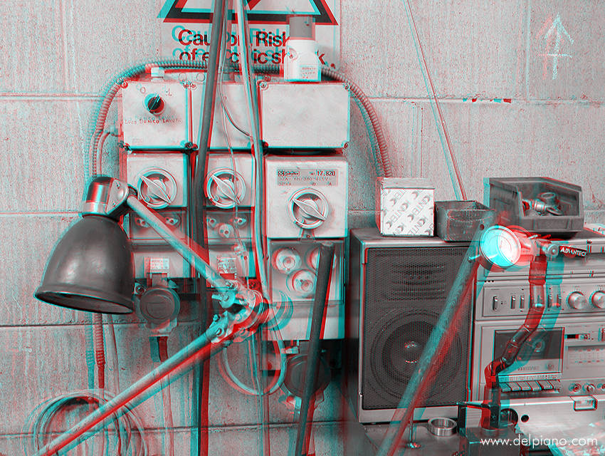 3D stereo Anaglyphs of cars and technical objects
