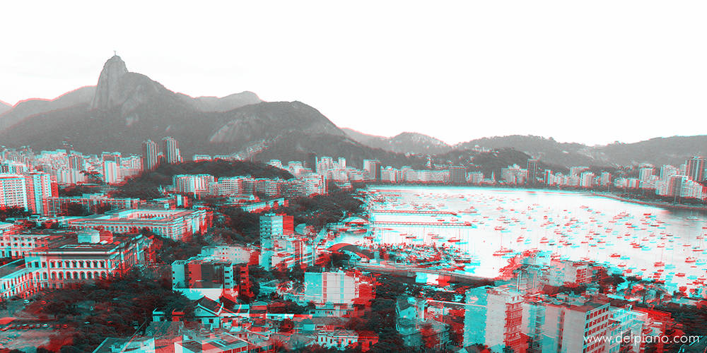 3D stereo Anaglyphs of places and urban situations