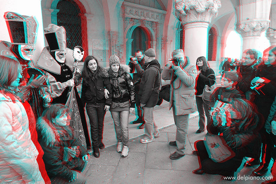 3D stereo Anaglyphs of Venice Carnival