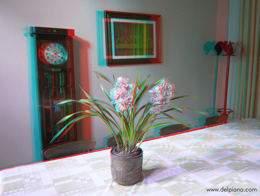 Anaglyphs of internal spaces in 3D