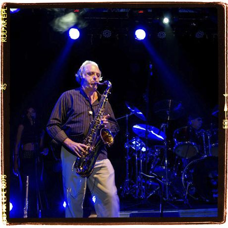 Onstage again. Tenor sax, I love the tenor sax sound
