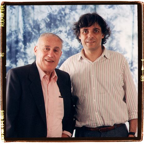 Here I am with Silvano Caselli, 1996. We were doing a job together, the Maria Callas silkscreening