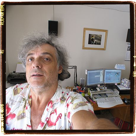 Selfie in my house office, south California, 2005 maybe