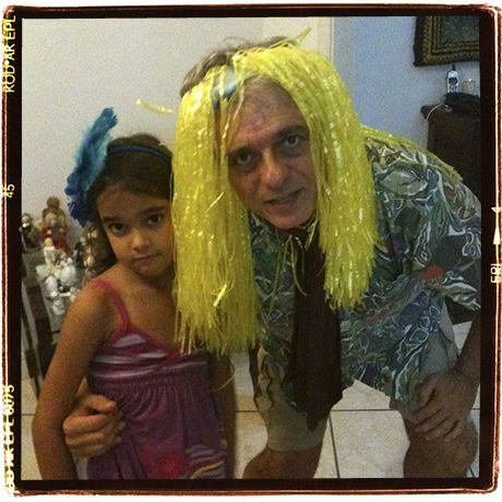 With my little cousing Marina Sedrez during Carnival time in Rio