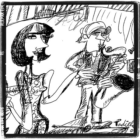 There was a time when I payed Bossa Nova too, here a sketck, Gigi, the singer and band leader