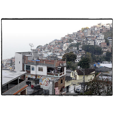 La Favela do Vidigal vista dall