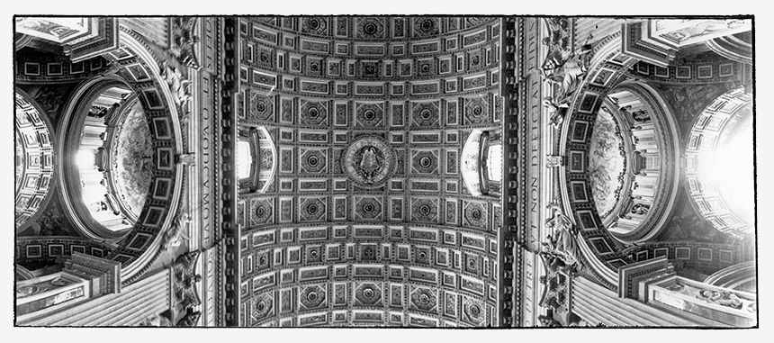 Ceiling of Saint Peter's Church in Rome