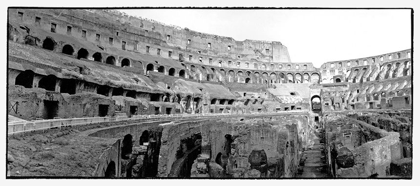 Roma - Inside view of the Coliseum