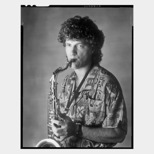Posed picture of male saxophone player