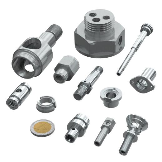 Group of mechanical parts in steel