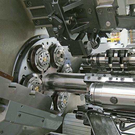 Working Area of CNC Multi-Spindle Lathe
