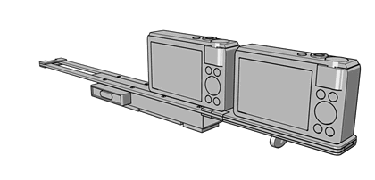 3D Stereo Digital Rig - Rear view